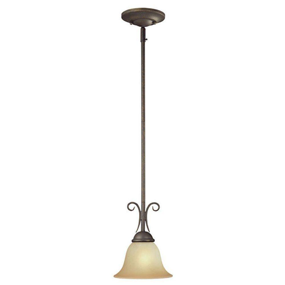 Westinghouse 1 Light Ebony Bronze Interior Mini Pendant