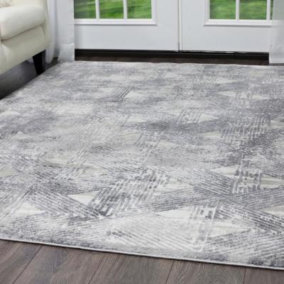 Kenmare Gray 9 ft. x 12 ft. Indoor Area Rug