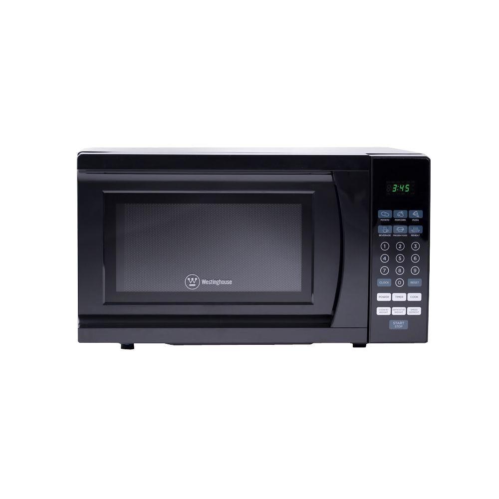 0.7 cu. ft. 700-Watt Countertop Microwave in Black