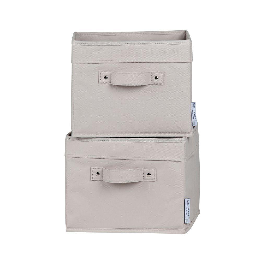 11 in. x 9 in. Storit Small Beige Polyester Basket (2-Pack)