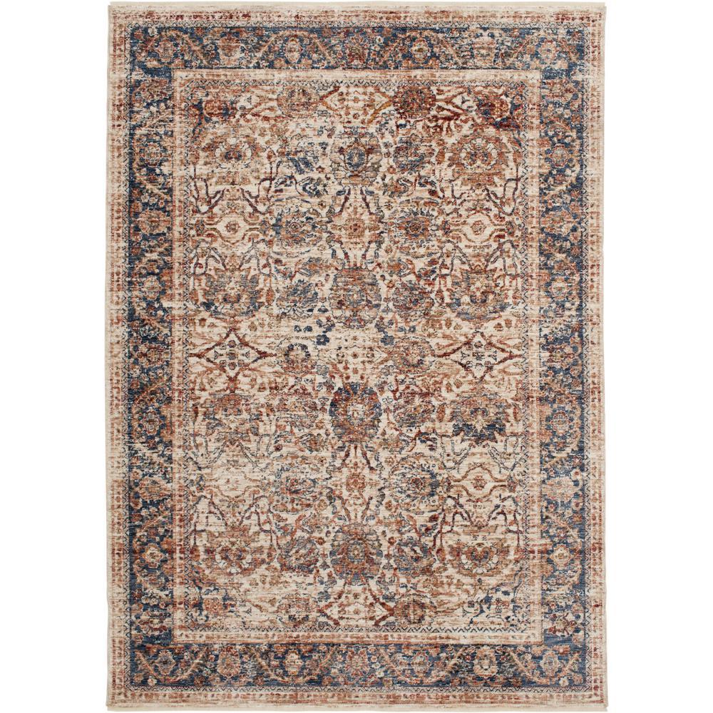 Bazaar Nadena Ivory 5 ft. x 8 ft. Oriental Polyester Area Rug