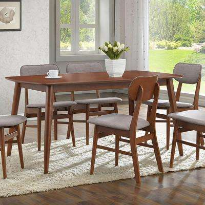 Sacramento Medium Brown Wood Dining Table