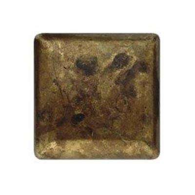 0.98 in. Antique Brass Dark Square Knob