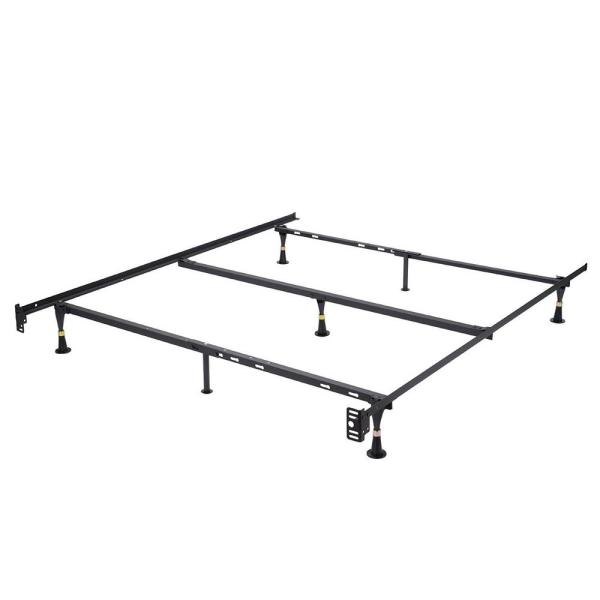 Kings Brand Furniture Adjustable Twin, Twin XL, Full, Full XL and Queen Bed Frame Metal 7-Leg  with Center Support Fits