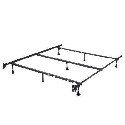 Adjustable Twin, Twin XL, Full, Full XL and Queen Bed Frame Metal 7-Leg  with Center Support Fits