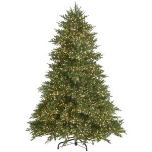 7.5 ft. Pre-Lit Emperor Fir with Warm White LED Lights