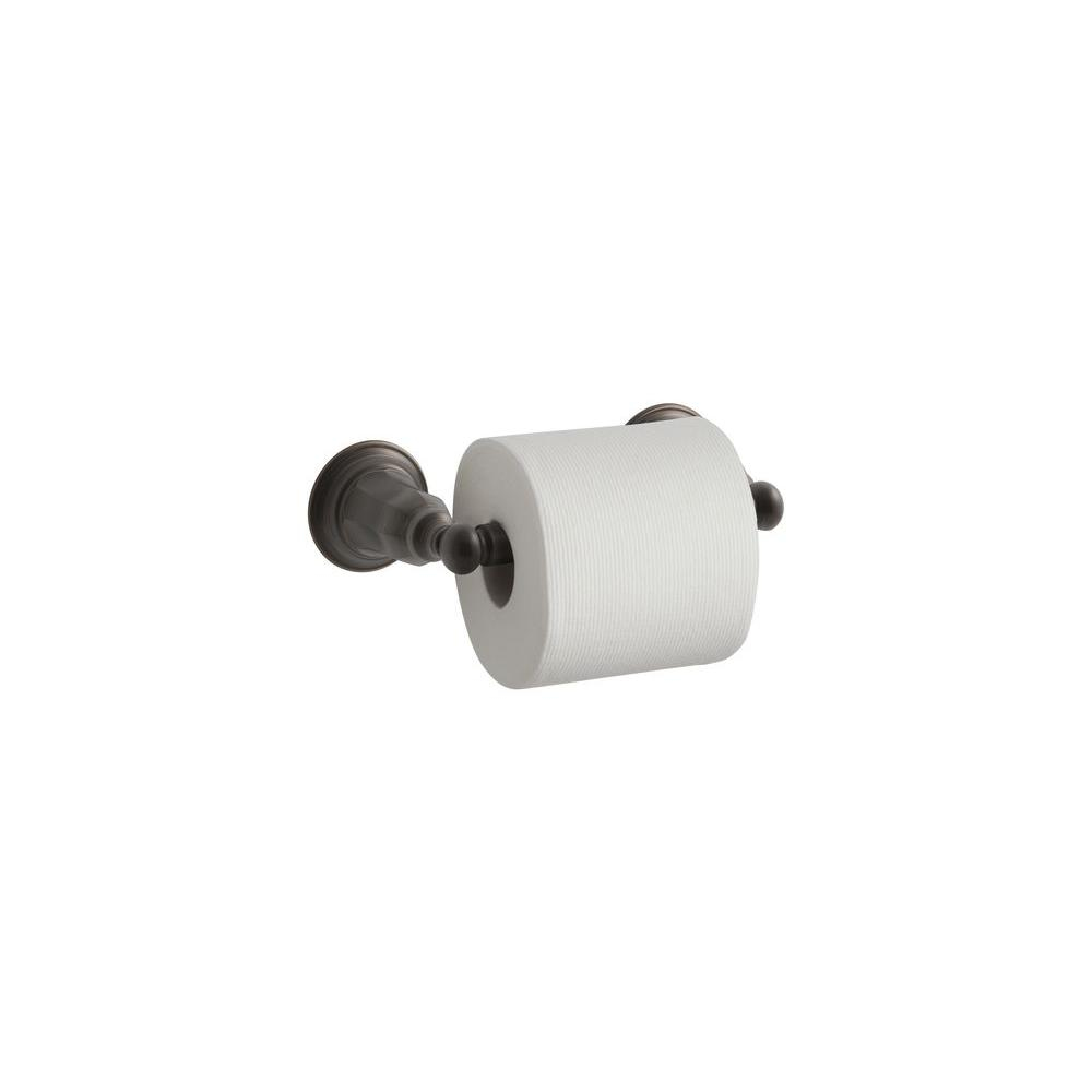 Kelston Double Post Toilet Paper Holder in Oil-Rubbed Bronze