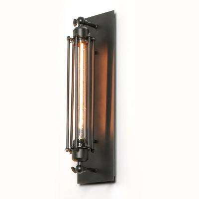 1-Light Black Wire Cage Wall Sconce
