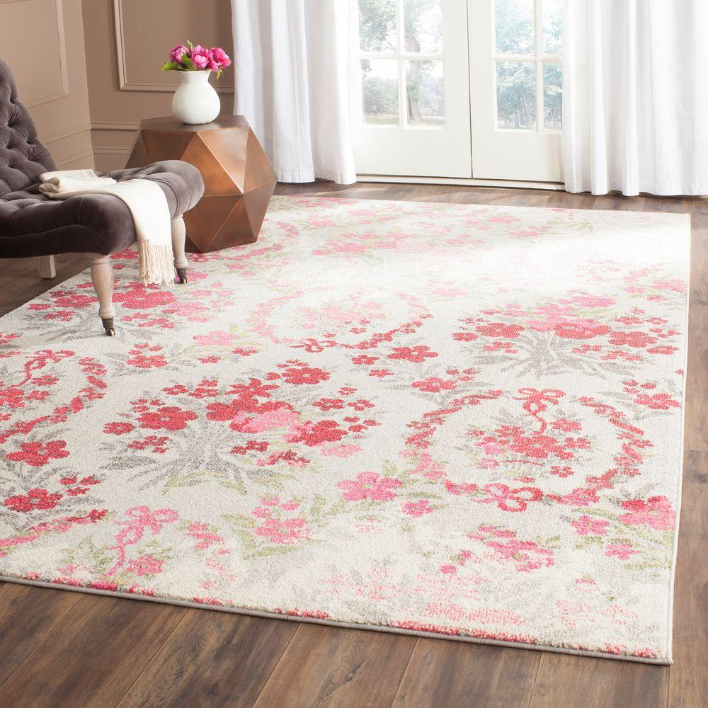 Safavieh Monaco Ivory Pink 5 Ft X 8 Ft Area Rug Mnc205r 5 The