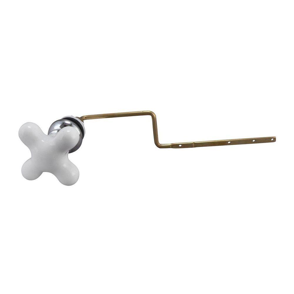 STYLEWISE Toilet Tank Cross Lever in Porcelain White