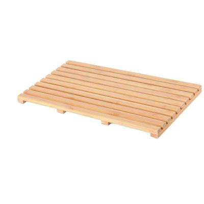 20 in. x 14 in. Bamboo Wood Natural Bathroom Mat