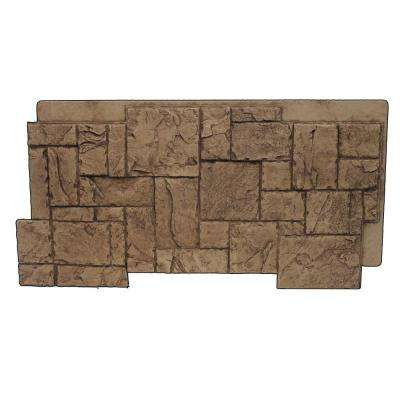 Faux Windsor Stone 24-3/4 in. x 48-3/4 in. x 1-1/4 in. Panel Cinnamon