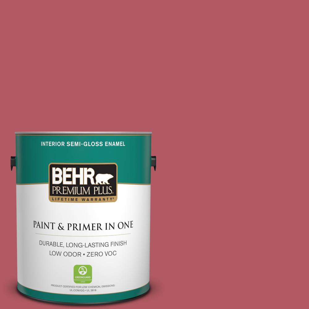 BEHR Premium Plus 1-gal. #140D-6 Shangri La Zero VOC Semi-Gloss Enamel Interior Paint