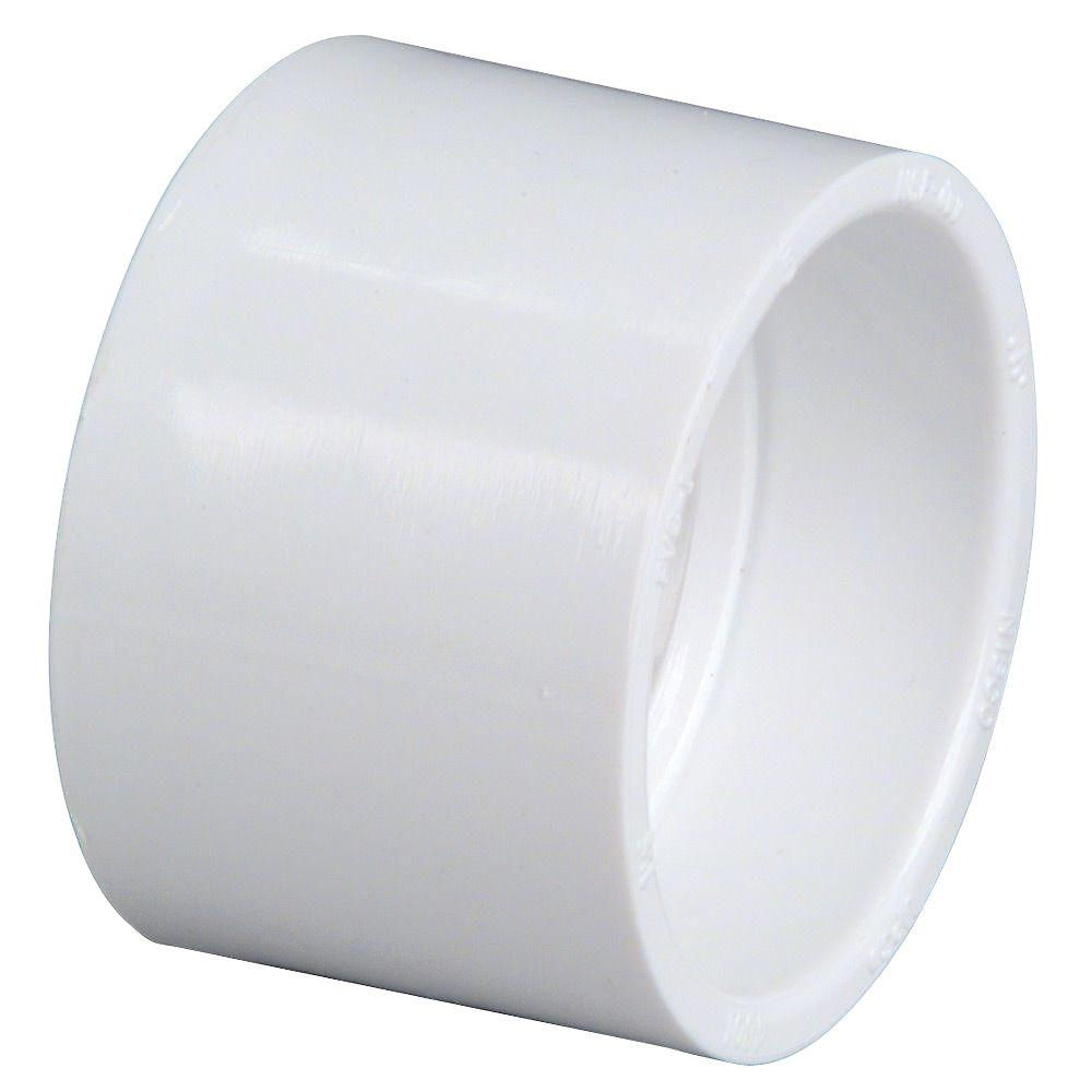 NIBCO 4 in  PVC DWV Hub x Hub Coupling Fitting