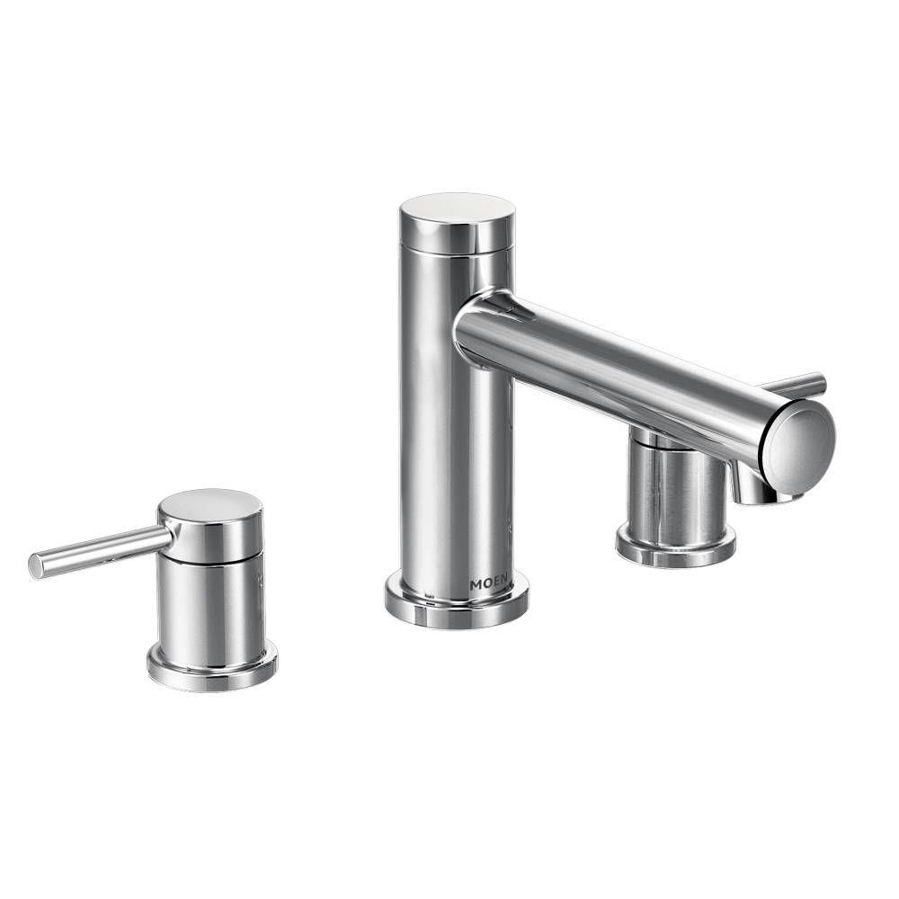 MOEN Align 2-Handle Deck Mount Roman Tub Faucet Trim Kit in Chrome ...