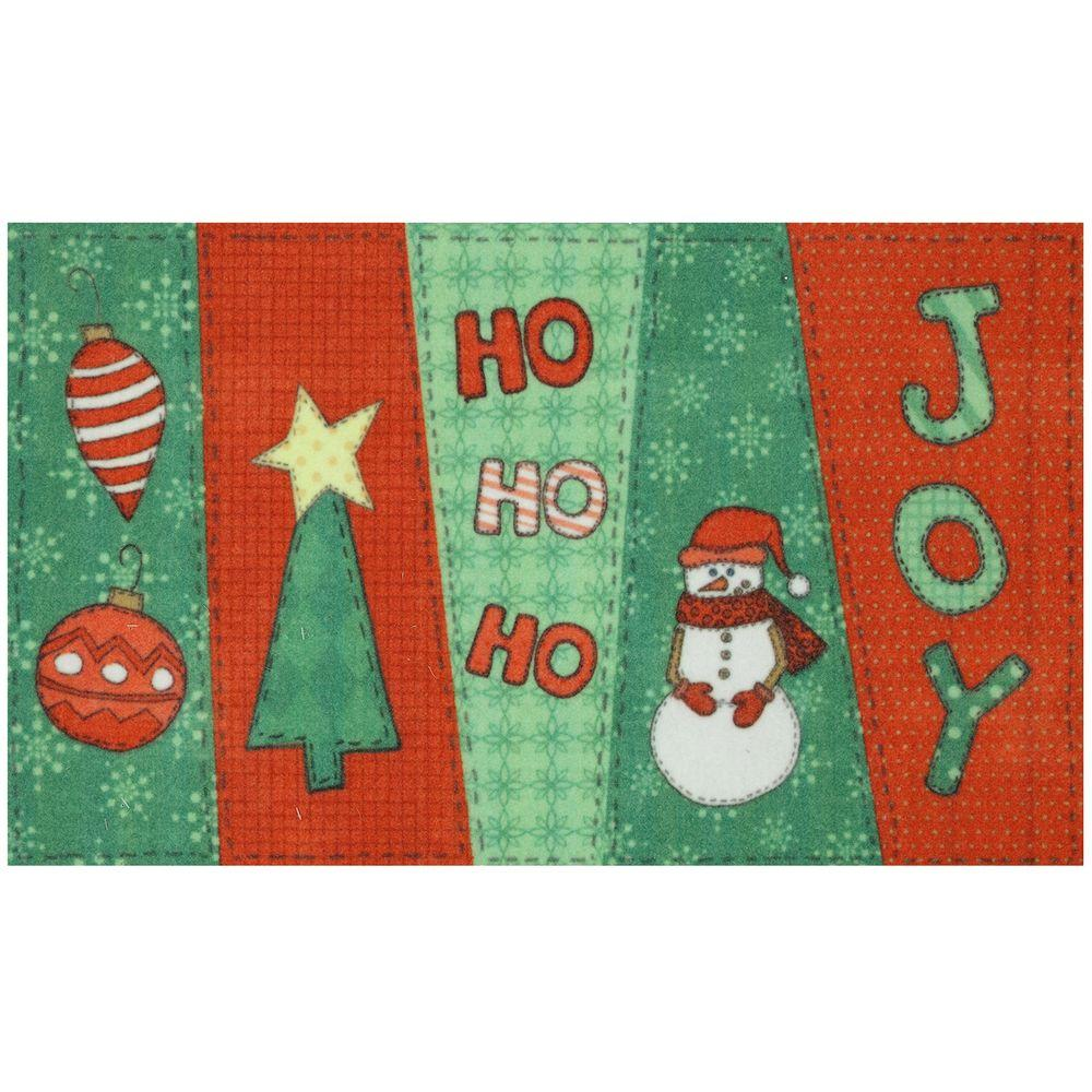 Mohawk Home Christmas Stitch 17 in. x 29 in. Digital Printed Echo Door Mat