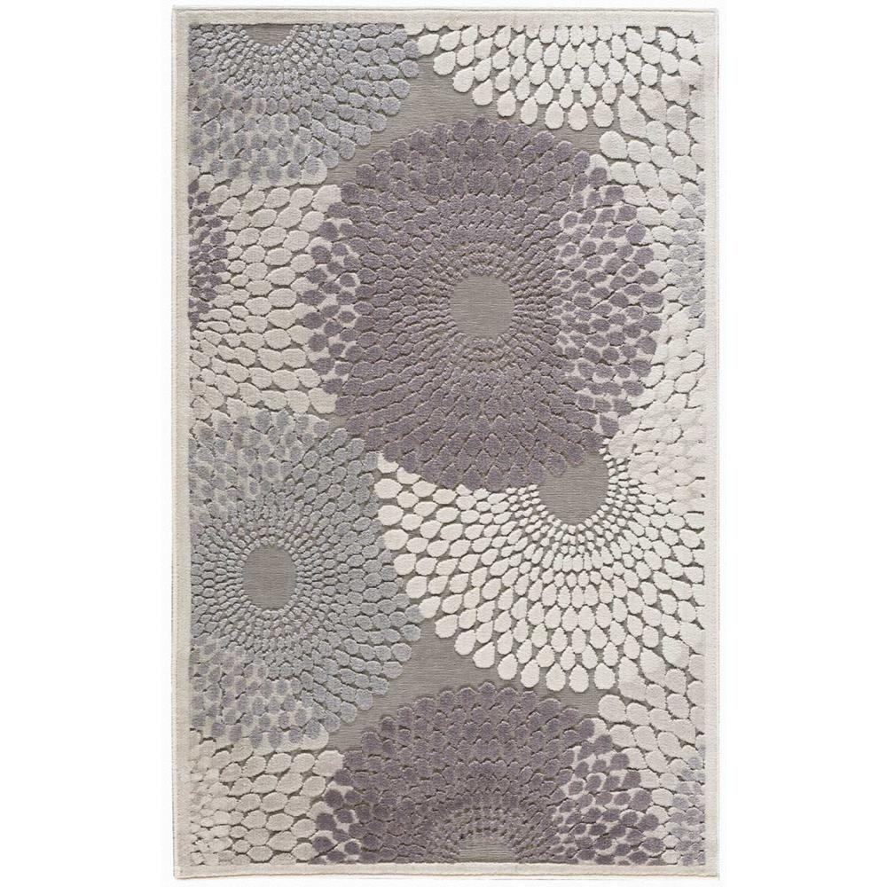 Nourison Graphic Illusions Grey 2 ft. x 4 ft. Area Rug