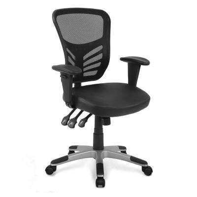 Brighton Black Office Chair with Vegan Leather Seat