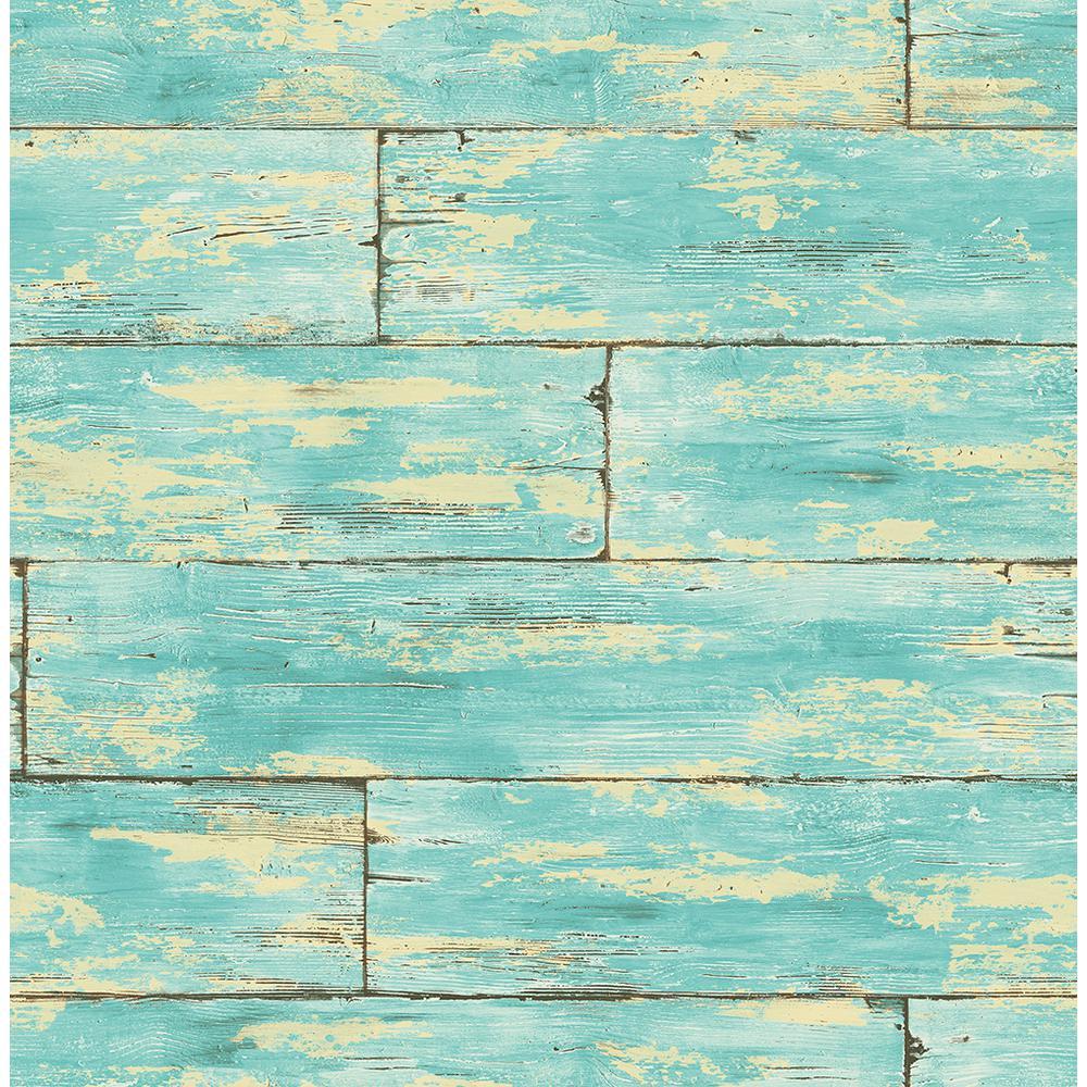 Shipwreck Aquamarine Wood Wallpaper