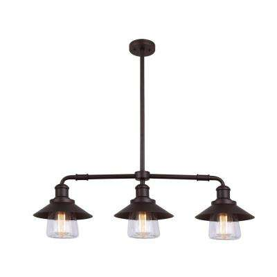 Lantern pendant lights lighting the home depot indi 3 light bronze pendant with clear glass aloadofball Choice Image