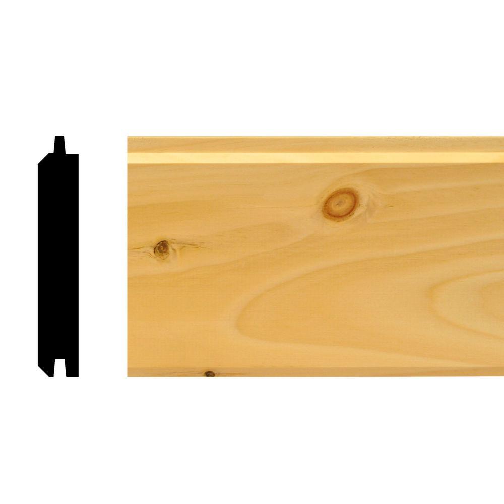House of Fara W496P - 3/4 in. x 4 in. x 96 in. Pine Car Siding Plank Paneling