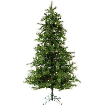 6.5 ft. Pre-lit Southern Peace Pine Artificial Christmas Tree with 500 Clear Smart String Lights