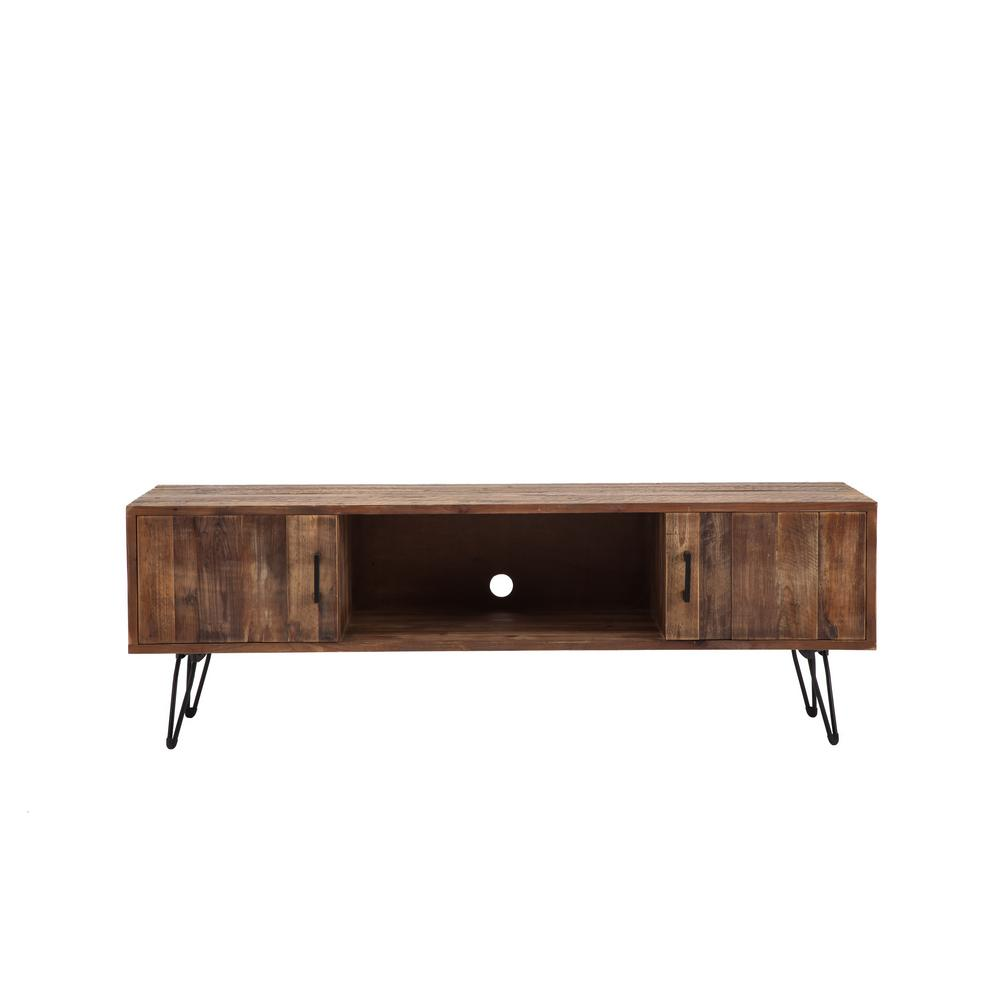 crawford burke middleton natural wood media tv stand 06922mc the home depot. Black Bedroom Furniture Sets. Home Design Ideas
