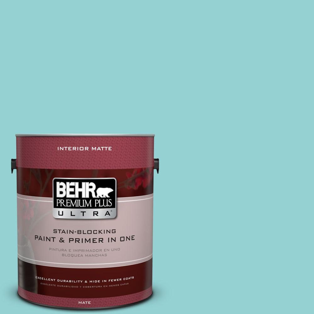 BEHR Premium Plus Ultra 1 gal. #M460-3 Big Surf Matte Interior Paint
