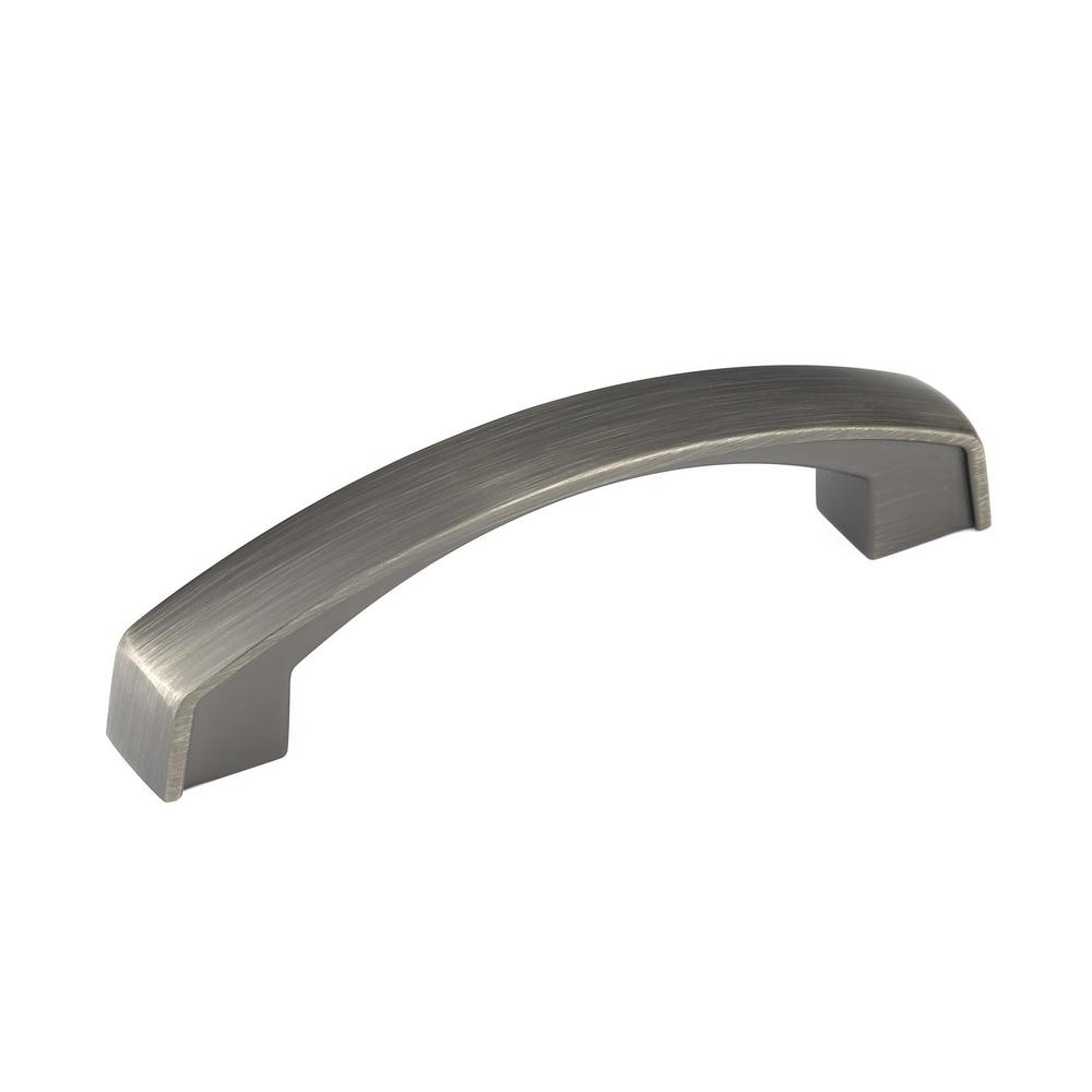 3-25/32 in. Thick Antique Nickel Arch Pull
