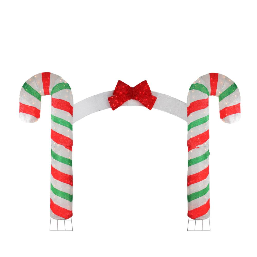 Details About Christmas Yard Decor Candy Cane Lane Archway Lighted Sculpture Outdoor 84 Inch
