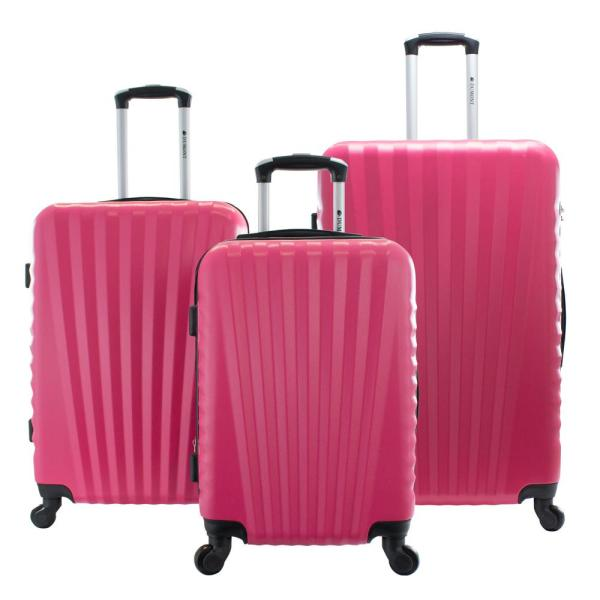 5f9455c74c22 Chariot Dumont 3-Piece Hardside Spinner Luggage Set DM-477 HOT PINK ...