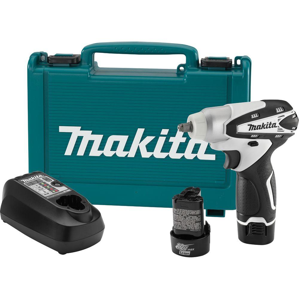 Makita 12-Volt Max Lithium-Ion 3/8 in. Cordless Square Drive Impact Wrench Kit with (2) 12-Volt Batteries
