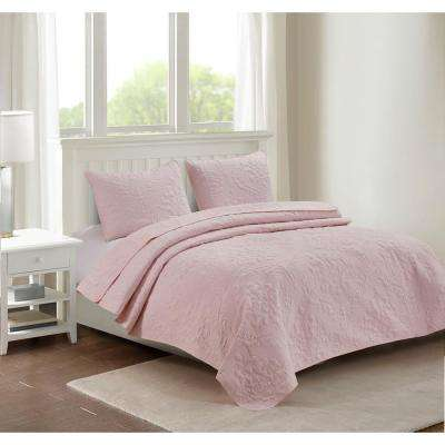 Carrington Blush King Quilt Set