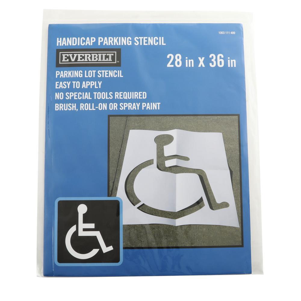 30 in. x 36 in. Handicap Parking Lot Stencil