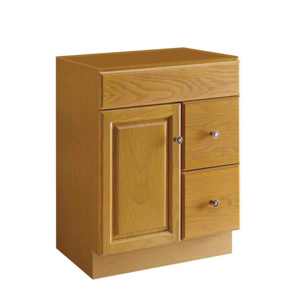 Design House Claremont 24 In. W X 18 In. D Unassembled Vanity Cabinet Only In Honey Oak-545137