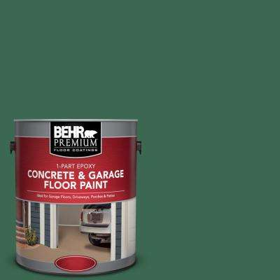 1 gal. #M410-7 Perennial Green 1-Part Epoxy Concrete and Garage Floor Paint