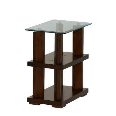 Delfino Burnished Cherry Chairside Table