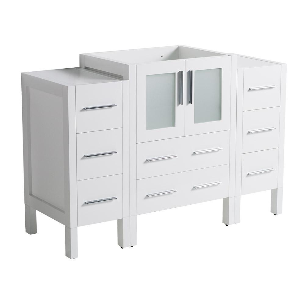 48 in. Torino Modern Bathroom Vanity Cabinet in White