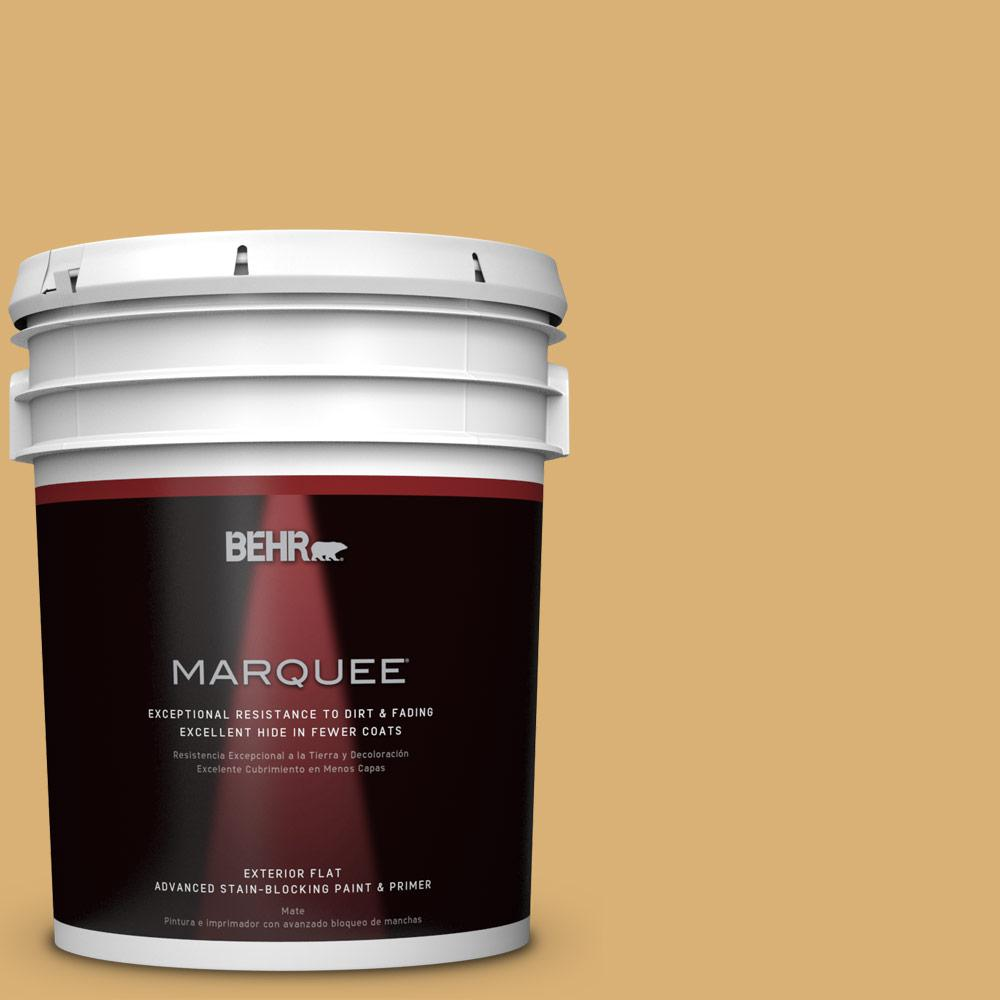 Home Decorators Collection 5-gal. #HDC-AC-08 Mustard Field Flat Exterior Paint