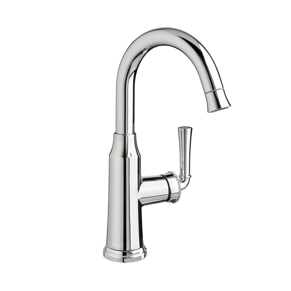 Portsmouth Single-Handle Pull-Down Bar Faucet in Polished Chrome