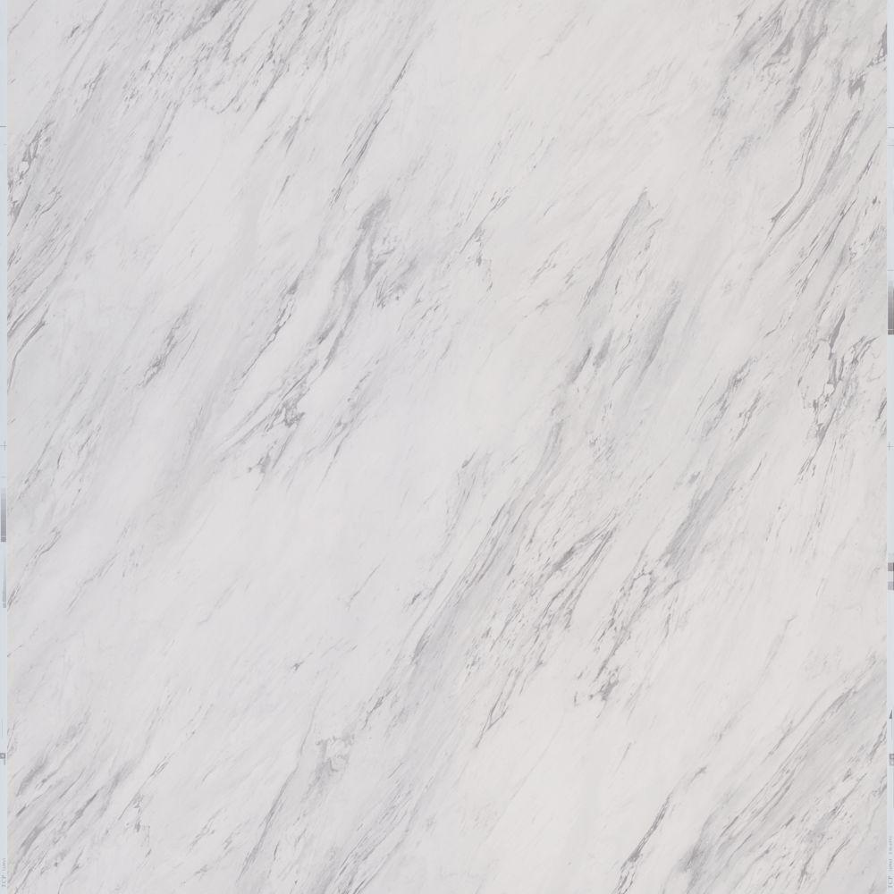 TRAFFIC MASTER TrafficMASTER Carrara Marble 18 in. x 18 in. Peel and Stick Vinyl Tile (27 sq. ft. / case)