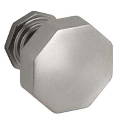 1.25 in. Vibrant Brushed Nickel Pinstripe Cabinet Knob