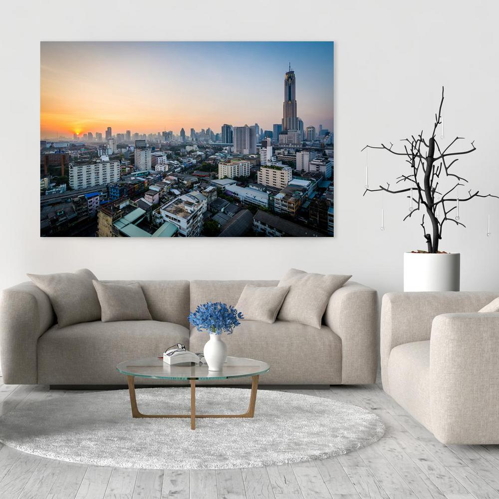16 In X 24 Sunrise View Over Bangkok Thailand Printed