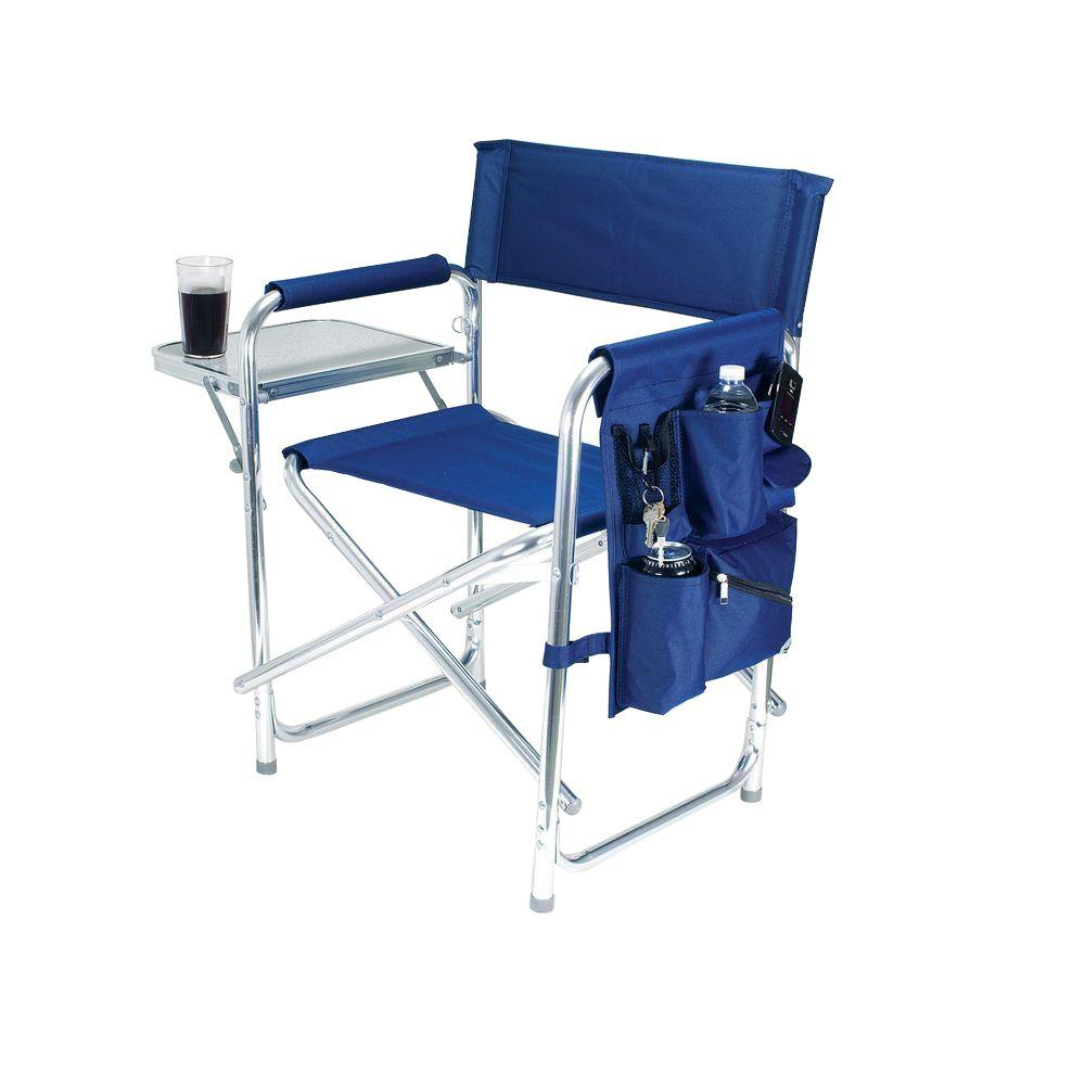 Picnic Time Navy Sports Portable Folding Patio Chair  sc 1 st  The Home Depot & Picnic Time Navy Sports Portable Folding Patio Chair-809-00-138-000 ...