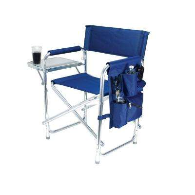 Navy Sports Portable Folding Patio Chair