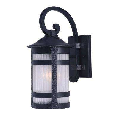 Casa Grande 10 in. W 1-Light Anthracite Outdoor Wall Mount Sconce