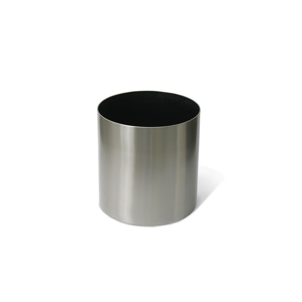 Stainless Steel Round Straight Planter