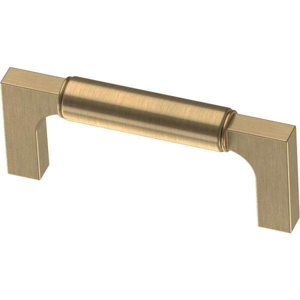 Artesia 3 in. (76mm) Center-to-Center Champagne Bronze Drawer Pull (10-Pack)