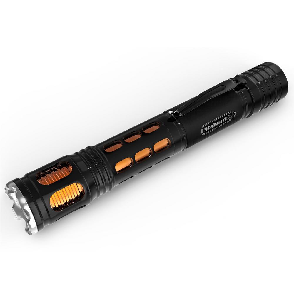 300 Lumens Handheld Aluminum LED Flashlight in Orange