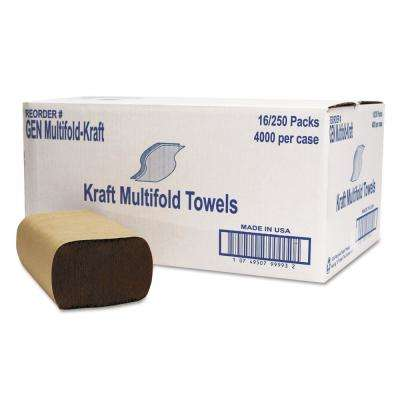 1-Ply Brown Multi-Fold Towel (250-Pack 16-Packs/Carton)